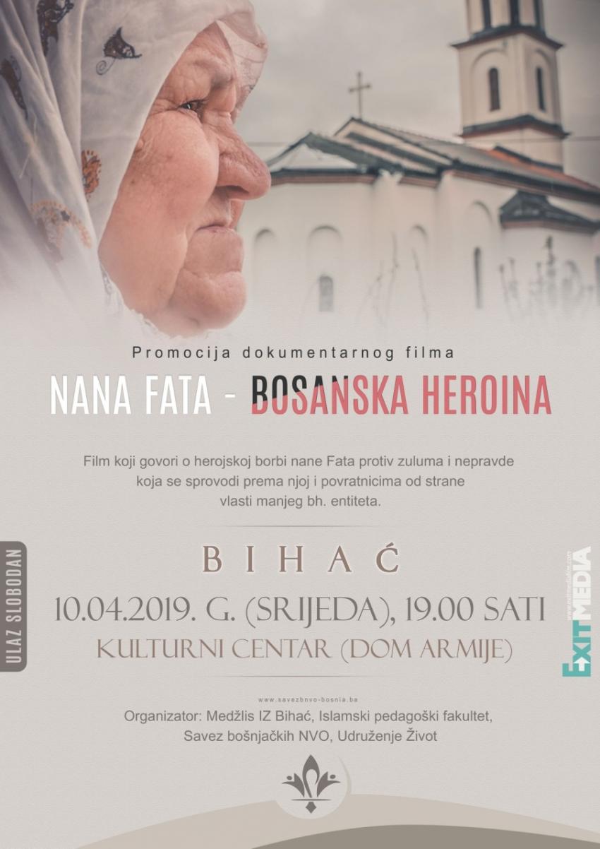 "Bihać: Promocija dokumentarnog filma ""Nana Fata – Bosanska heroina"" (VIDEO)"