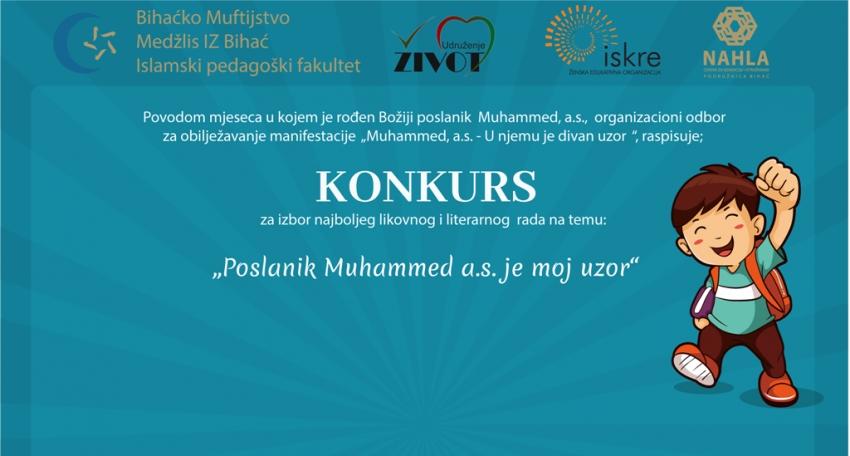 """Konkurs """"Poslanik Muhammed, a.s. je moj uzor"""" za učenike osnovnih škola"""