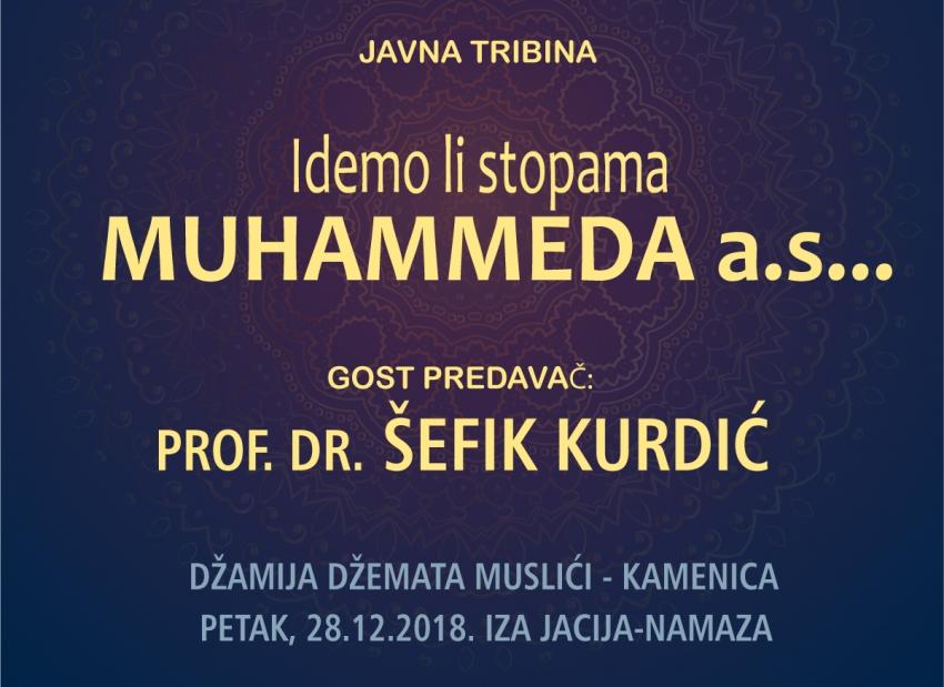 Tribina sa prof. dr. Šefikom Kurdićem u džematu Muslići - Kamenica