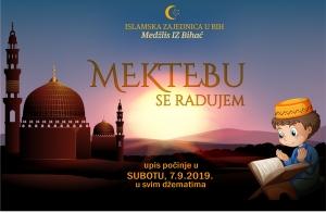 U subotu počinje mektebska nastava